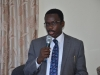 Head, Corruption Monitoring and Evaluation Department, ICPC, Mr. Akeem Lawal, speaking during the inauguration.