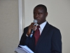 The new ACTU Chairman, Mr. Onyeabo Iheanacho giving his acceptance speech.