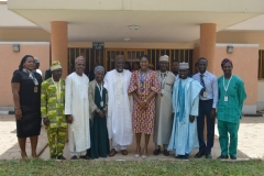 The new exco members with JAMB Registrar, Prof. Ishaq Oloyede