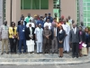 NOUN Vice Chancellor, Prof. Abdallah Uba Adamu and Mr. Justin Kuatsea of ICPC in a group photograph with the new ACTU exco members