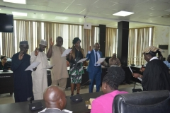 The new exco members taking their oath of office