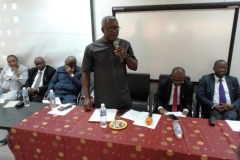 Mr. Lawrence Abuo of CMED who represented the Acting Chairman, Dr Musa Usman Abubakar, speaking during the inauguration