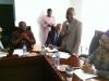 Mr. Justin Kuatsea of ICPC addressing the new ACTU exco members