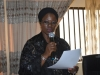 The new ACTU Chairman, Mrs. Helen Yusuf, giving her acceptance speech after the inauguration
