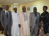 (L-R) ACTU Desk Officer for PCC, Mr. Femi Gold of ICPC, Coordinating Director, PCC, Mr. Mohammed Abba Aliyu, Chief Commissioner, PCC, Chief Emmanuel Ogbile, Mr. Justin Kuatsea of ICPC, and ACTU Chairman, Mrs. Helen Yusuf in a group photograph