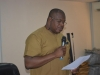 Barrister Richard Agu, a Director in office of the DG, who represented the Director-General/Chief Executive, SON, Mr. Osita Anthony Aboloma, speaking during the inauguration.