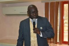The new ACTU Chairman of UBEC, Rt. Rev. Edwin Jarumai, giving his acceptance speech