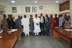The news exco members in a group photograph with the Executive Secretary, UBEC, Dr. Hamid Boboyi and ICPC staff
