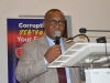 Dr. Elvis Oglafa, Secretary to the Commission, who represented the ICPC Chairman, delivering his speech during the programme