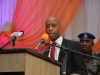Speaker, Akwa State House of Assembly, Rt. Hon. Onofiok Luke speaking at the summit