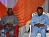 ICPC Chairman, Mr. Ekpo Nta (L) and Governor Udom Emmanuel of Akwa Ibom State (R) at the summit