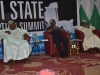 (L-R) Executive Governor of Bauchi State, His Excellency, Alhaji Mohammed Abdullahi Abubakar, ICPC Chairman, Mr. Ekpo Nta and ICPC Board Member, Hon. Bako Abdullahi at the summit
