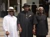 (L-R) Deputy Governor, Rear Admiral Gboribiogha John Jonah, Bayelsa State Governor, Hon. Seriake Dickson and ICPC Chairman, Mr. Ekpo Nta