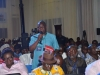 A participant speaking during the interactive session at the summit