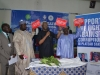 (L-R) Justice Yakubu Dakwak, Deputy Speaker, Hon. Yusuf Gagdi, ICPC Chairman, Mr. Ekpo Nta and Deputy Governor, Prof. Sonni Tyoden flagging off the campaign