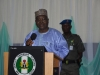 Deputy Governor of Plateau State, His Excellency, Prof. Sonni Tyoden delivering his speech during the summit