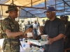 ICPC Chairman Barr Ekpo Nta Receiving a Plaque from the Commanding Officer Lt. Col Musa Ibrahim