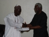 ICPC Chairman Ekpo Nta Receiving Some Publications From DG NOTAP Eng Umar Gimba