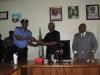 ICPC Chairman Ekpo Nta Presenting a Plaque to IG of Police Solomon Arase