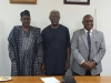 Acting Director-General of BPP, Engr. Ahmed Abdul with ICPC Chairman, Mr. Ekpo Nta and Secretary to the Commission, Mr. Elvis Oglafa
