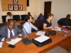 L-R: Members of the UNODC delegation, Femi Ajayi, Polleak OK Serei and the Country Rep. Christina Albertin.