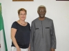 Christina Albertin, Country Rep. UNODC with ICPC Chairman Ekpo Nta