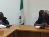 Director-General of IPCR, Prof. Osang O. Osita in a discussion with ICPC Chairman, Mr. Ekpo Nta