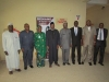 Delegation from FHA in a group Photograph with ICPC Chairman, Mr. Ekpo Nta and Secretary to the Commission, Mr. Elvis Oglafa.