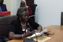Vice President, Chartered Institute of Taxation of Nigeria [CITN], Ms. Olajumoke Simplice, fcti, speaking during the courtesy visit