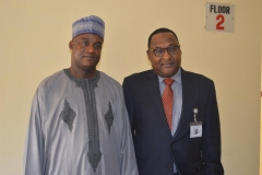 ICPC Acting Chairman, Dr. Musa Usman Abubakar [L] and Executive Secretary NSC, Mr. Hassan Bello [R] pose for a photograph