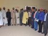 Hon. Bako Abdullahi, Secretary to the Commission, Elvis Oglafa and some management staff in a group photograph with the ANAN President and his team