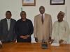 (L-R) Mr. Sunday Aniogor Ekune, ANAN Registrar, Secretary to the Commission, Dr. Elvis Oglafa, Mr. Anthony Chukwuemeka Nzom, ANAN President, and Hon. Bako Abdullahi
