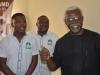ICPC Chairman, Mr. Ekpo Nta in a chat with Mr. Akin Fadeyi