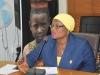 ICPC Spokesperson and Director, Public Enlightenment, Mrs. Rasheedat Okoduwa mni, speaking during the visit