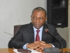 Auditor-General of the Federation, Mr. Anthony Mkpe Ayine (FCA) speaking during the courtesy visit