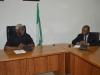 ICPC Chairman, Mr. Ekpo Nta speaking during the courtesy visit