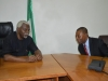 ICPC Chairman, Mr. Ekpo Nta discussing with the Auditor-General of the Federation, Mr. Anthony Mkpe Ayine during the courtesy visit