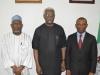 (L-R) ICPC Board Member, Hon. Bako Abdullahi, ICPC Chairman, Mr. Ekpo Nta and Auditor-General of the Federation, Mr. Anthony Mkpe Ayine