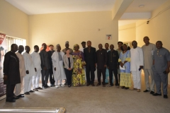 A group photograph of management staff of ICPC and officials of Transparency International