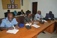 A cross-section of top management staff of NACC during the courtesy call