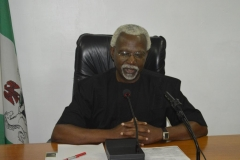 ICPC Chairman, Mr. Ekpo Nta, speaking during the courtesy visit