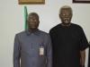 NACC Chairman, Rev. Massi Gams (L) and ICPC Chairman, Mr. Ekpo Nta (R) during the courtesy visit