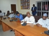 A cross-section of management staff of NHIS during the courtesy visit