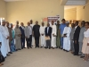 ICPC Chairman, Ekpo Nta and Exec. Sec. NHIS, Prof. Usman Yusuf in a group photograph with management staff of ICPC and NHIS