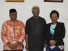 06 ICPC Chairman Ekpo Nta flanked by Exec. Sec. PTAD, Sharon Ikeazor and Secretary to the Commission, Elvis Oglafa