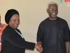 09 ICPC Chairman, Ekpo Nta in a handshake with the Exec. Sec. PTAD, Sharon Ikeazor