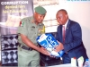 HEAD OF ICPC, OYO OFFICE, MR. STEPHEN PIMOR, PRESENTING A GIFT TO THE VISITNG GOC, MAJ. GEN. L.C. ILO