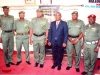 THE VISITING GOC, MAJ. GEN. L.C. ILO, AND HIS ENTOURAGE WITH HEAD OF ICPC, OYO OFFICE, MR. STEPHEN PIMOR