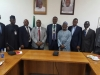 Hon. Bako Abdullahi who represented the ICPC Chairman, Ekpo Nta, Secretary to the Commission, Elvis Oglafa and some management staff in a group photograph with the ICAN President and his team