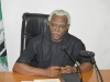 ICPC Chairman, Ekpo Nta, speaking during the courtesy visit